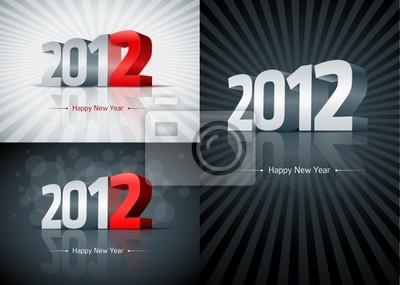 2012 Frohes Neues Jahr Set