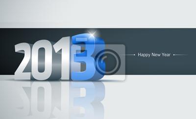 2013 Frohes Neues Jahr-Karte