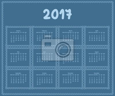 2017 jahr kalender vorlage.farbe dekorative design. fototapete ...