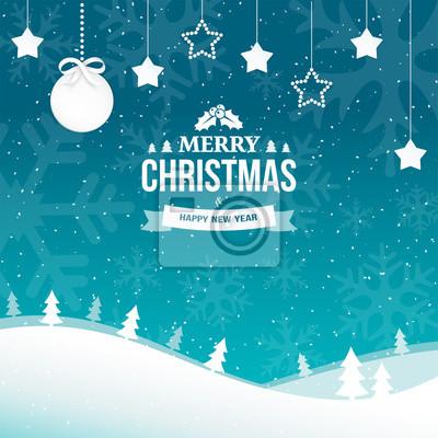 Frohe Weihnachten Und Happy New Year.Fototapete 2018 Frohe Weihnachten Und Happy New Year Grußkarte Hintergrund