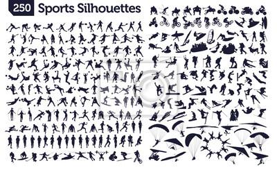 Fototapete 250 Sport-Silhouetten