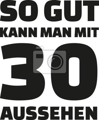 Fototapete 30th Birthday German