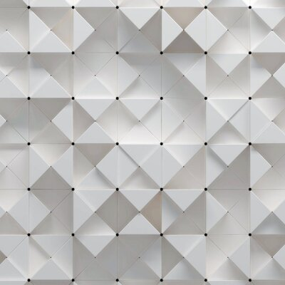 Fototapete 3D Abbildung von geometrischen Muster