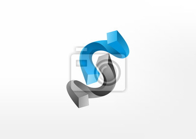 Fototapete 3d Abstract Business Balance Symbol Logo Icon