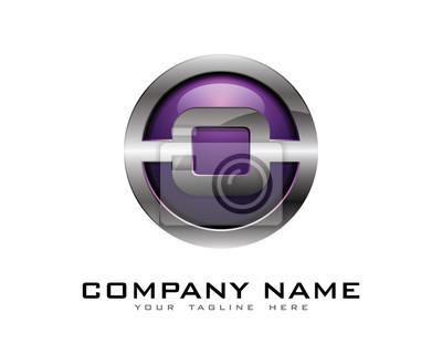 3d buchstabe o farbe chrome logo fototapete • fototapeten App ...