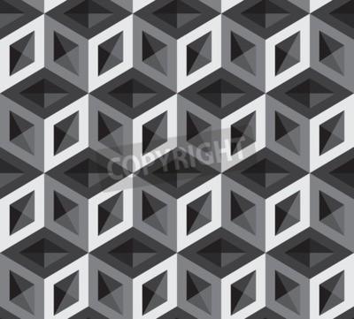 Fototapete 3d cubes Muster Illustration. Hintergrund und Hintergrund.