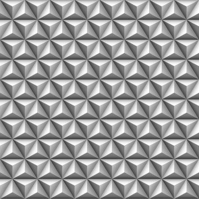 Fototapete 3d Dreieck nahtlose Muster