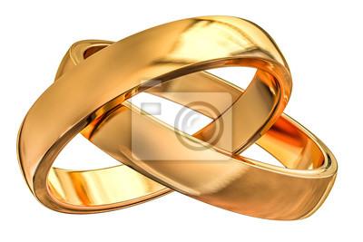 3d Eheringe Zur Goldenen Hochzeit Fototapete Fototapeten