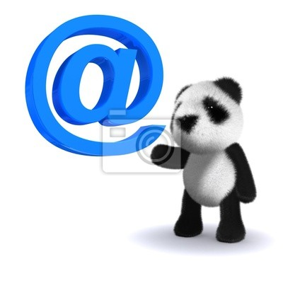 Fototapete 3d Email Pandabär