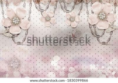 Fototapete 3d flower wallpaper 3d background- Illustration