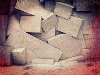 Fototapete 3D geometrische Wand