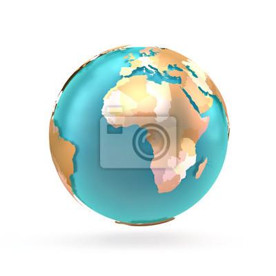 Globus Karte.3d Globus Karte Der Welt Kontinente Und Lander Globe Mit