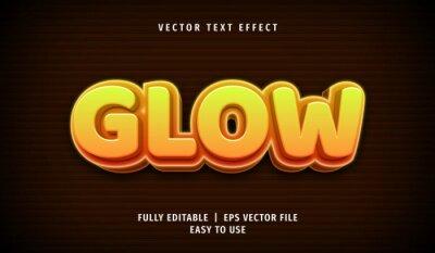 Fototapete 3D Glow Text effect, Editable Text Style