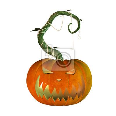 3d halloween-kürbis fototapete • fototapeten Kürbisflasche, Horror ...