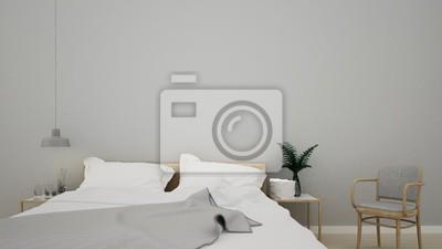 3d interieur rendering schlafzimmer raum und wanddekoration ...