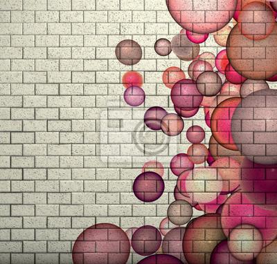 3d Mosaik Fliesen Wand Mit Rosa Blase Muster Fototapete