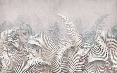 Fototapete 3d picture of palm leaves on the background
