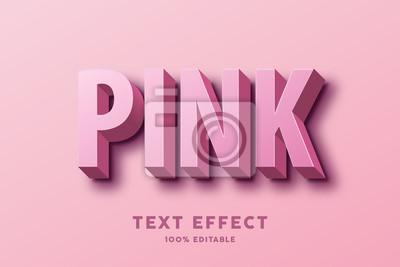 Fototapete 3D pink text effect