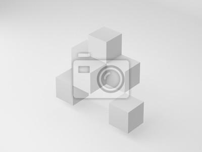 3d-rendering abstrakte box formen auf weißem hintergrund ...
