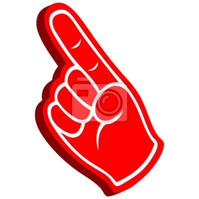 3D-Schaum-Finger