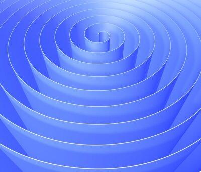 Fototapete 3D Spirale, digitale abstrakte Hintergrundmuster