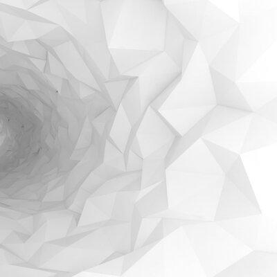 Fototapete 3D-Tunnel mit chaotischen polygonalen Oberfläche