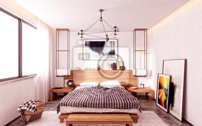 3d übertragen vom modernen schlafzimmer fototapete • fototapeten ...
