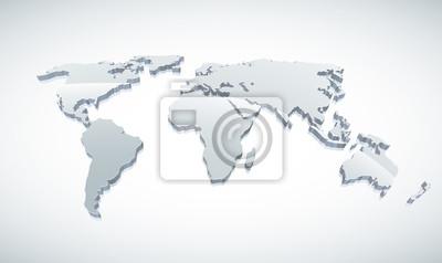 3D-Vektor-Weltkarte.