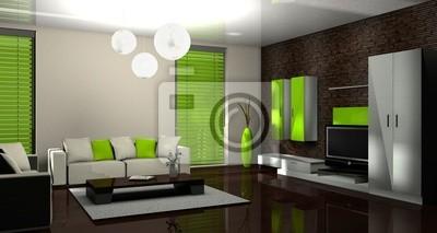 3d Wohnzimmer Grun Fototapete Fototapeten Einfamilienhaus Laminat