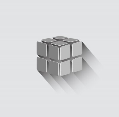 Fototapete 3D-Würfel-Symbol