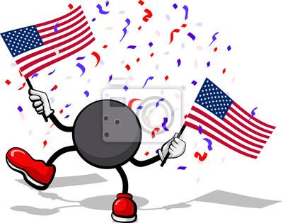 4. Juli Celebration USA Bowling