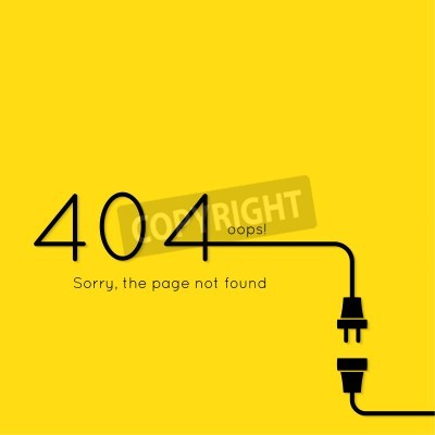 404 verbindungsfehler. zusammenfassung hintergrund mit draht-stecker ...