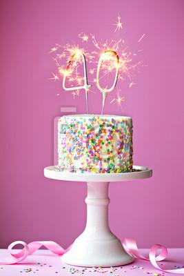 Fototapete 40th Birthday Cake