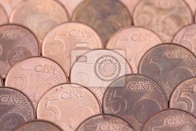 5 Euro Cent Münzen In Dachziegel Muster Fototapete Fototapeten
