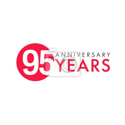 95 jahre altes logo. jahrestag jahr der 95. vektor zahlen. grüße ...