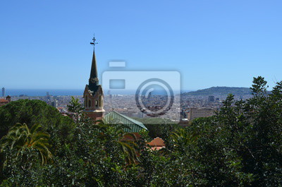 A view over Barcelona from Gaudi's Parc Guell