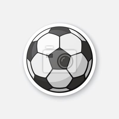 Abbildung Leder Schwarz Und Weiss Fussball Sportausrustung