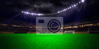 Abend Stadion Arena Fußballplatz
