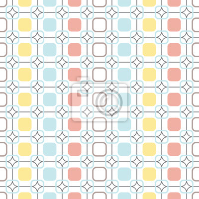Fototapete Abgerundeten Quadrate wiederholbar nahtlose Vektor-Muster.