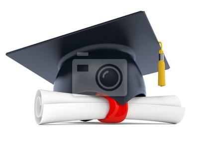 Abschlusshut Mit Zertifikat Fototapete Fototapeten Abschluss