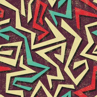 Fototapete Absract Graffiti nahtlose Muster. Vektor