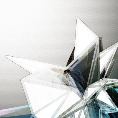 Fototapete Abstract 3D Kristall Vektor Hintergrund
