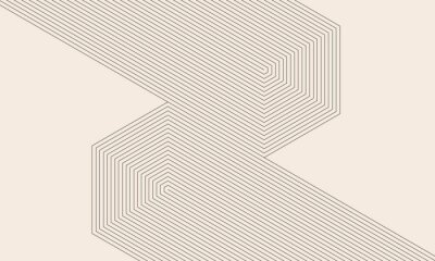 Fototapete abstract art lines background. monochrome stripes