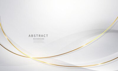 Fototapete abstract background luxury white gold Modern
