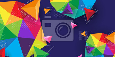 Fototapete Abstract background modern and colorful