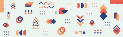 Fototapete Abstract background with different geometric shapes - illustration