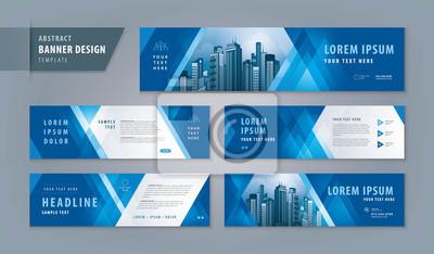 Fototapete Abstract banner design web template Set, Horizontal header web banner