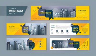 Fototapete Abstract banner design web template Set, Horizontal header web banner. Modern cover header