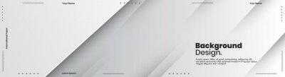 Fototapete Abstract banner design web templates, horizontal header web banner. Modern abstract cover header background for website design, Social Media Cover advertising banner, flyer, invitation card