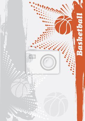 Abstract basketball banner